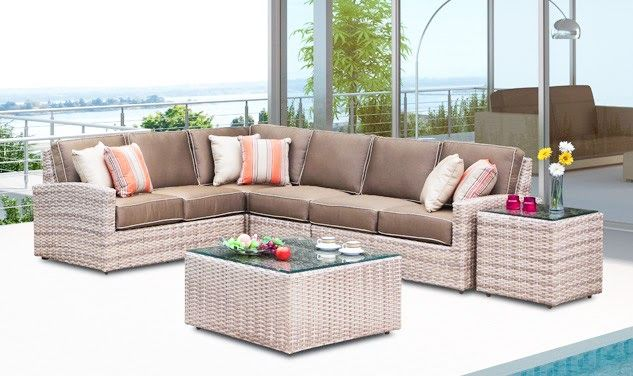 Outdoor sectional in 2020   Patio furniture cushions ...