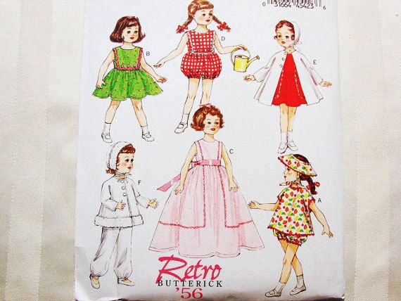 Butterick Retro 1950s 18 inch Doll Clothes Pattern UNCUT American ...