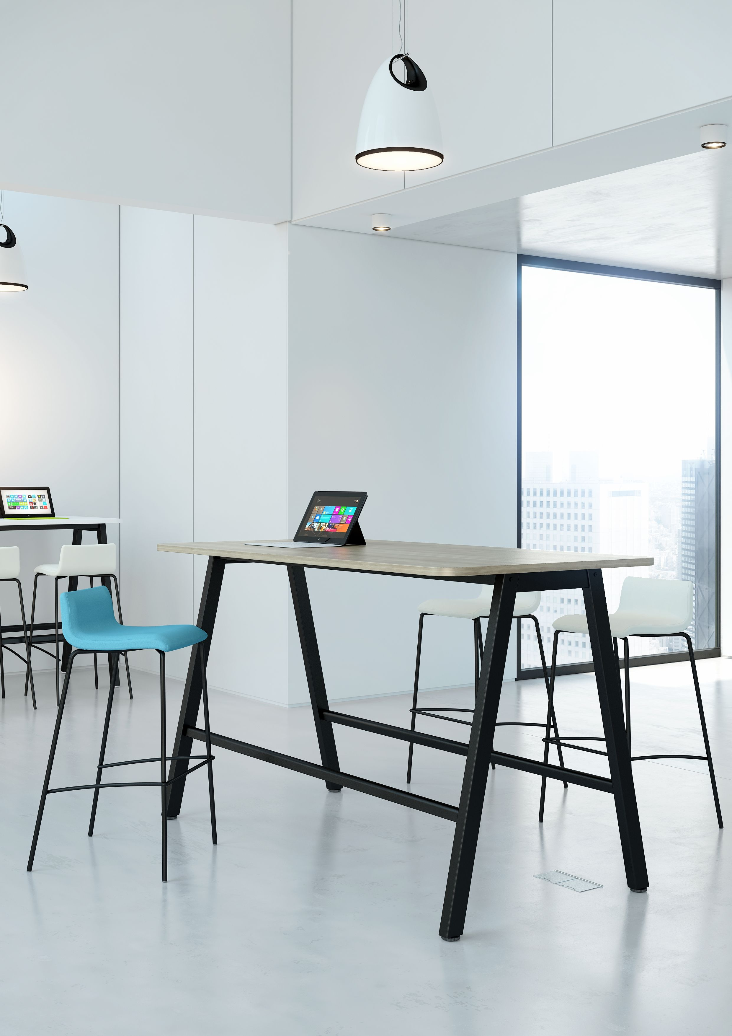 High Bench Breakout Table From Elite Office Furniture New Office - Tall meeting table
