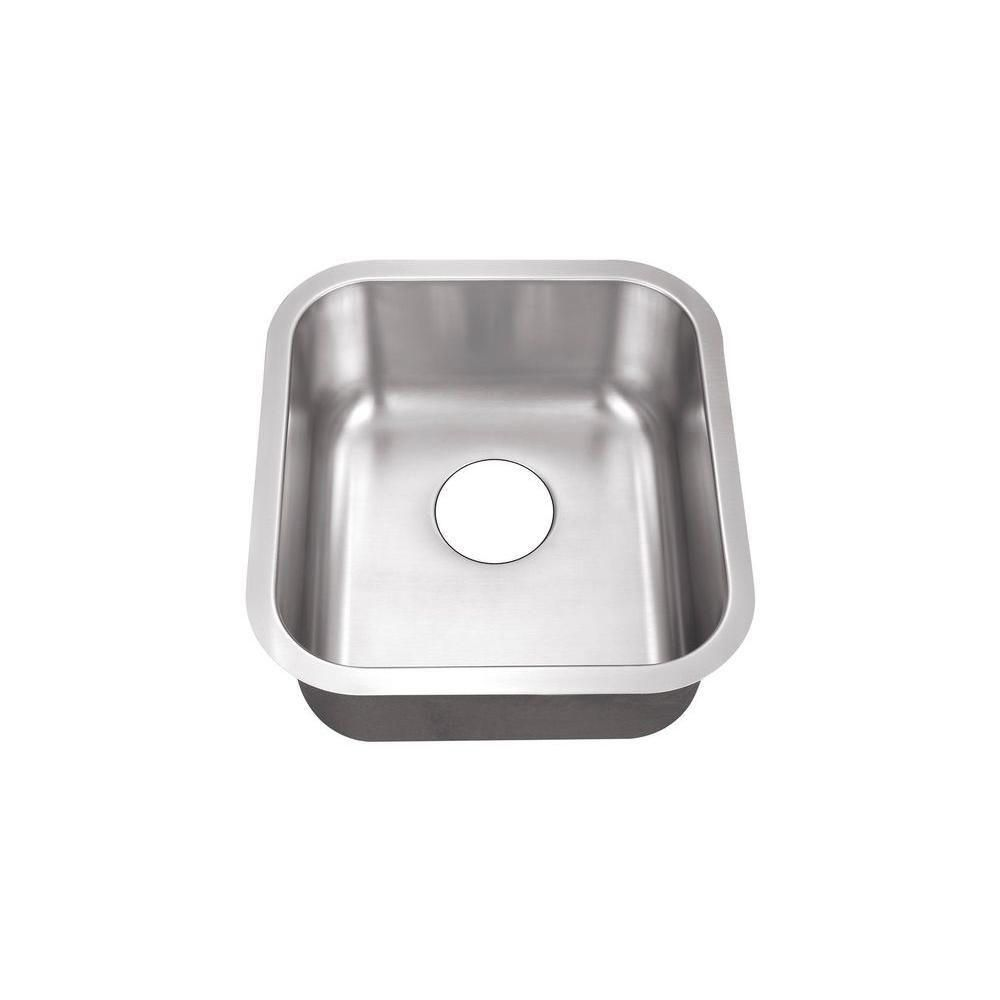 Belle Foret Undermount Stainless Steel 16 In 0 Hole Single Bowl Kitchen Sink Bfsb708 Single Bowl Kitchen Sink Bar Sink Sink