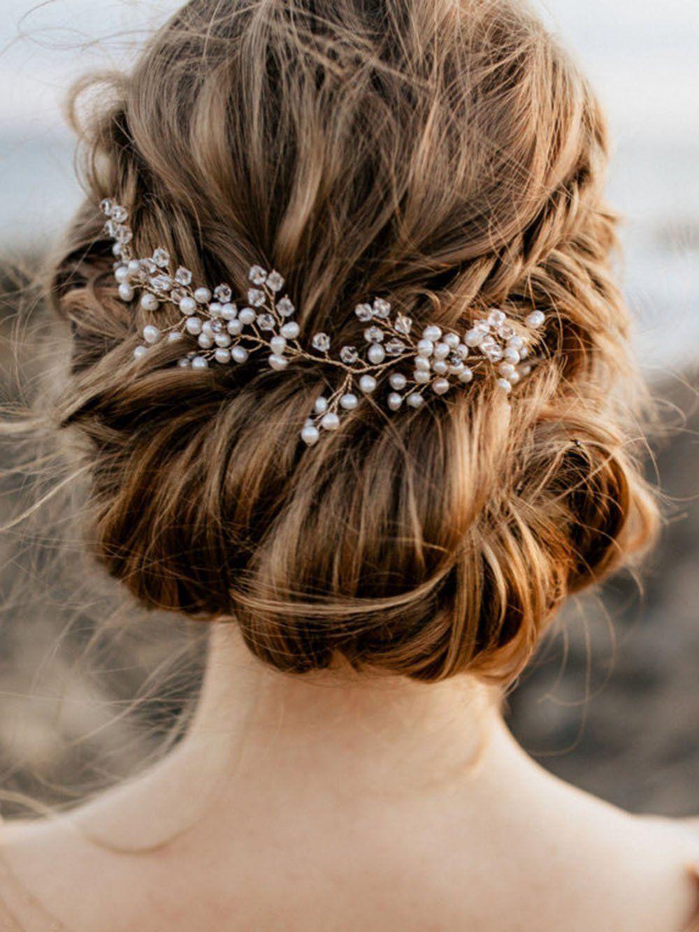 handmadejewelrylady novia pelo accessorries cristal tocado