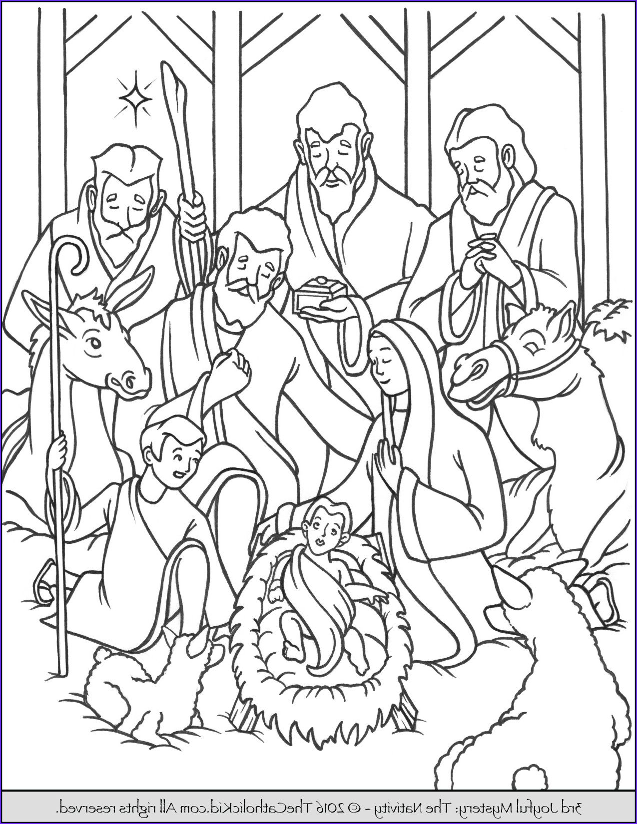 Jesus Birth Coloring Pages Jesus Is The Reason For The Season