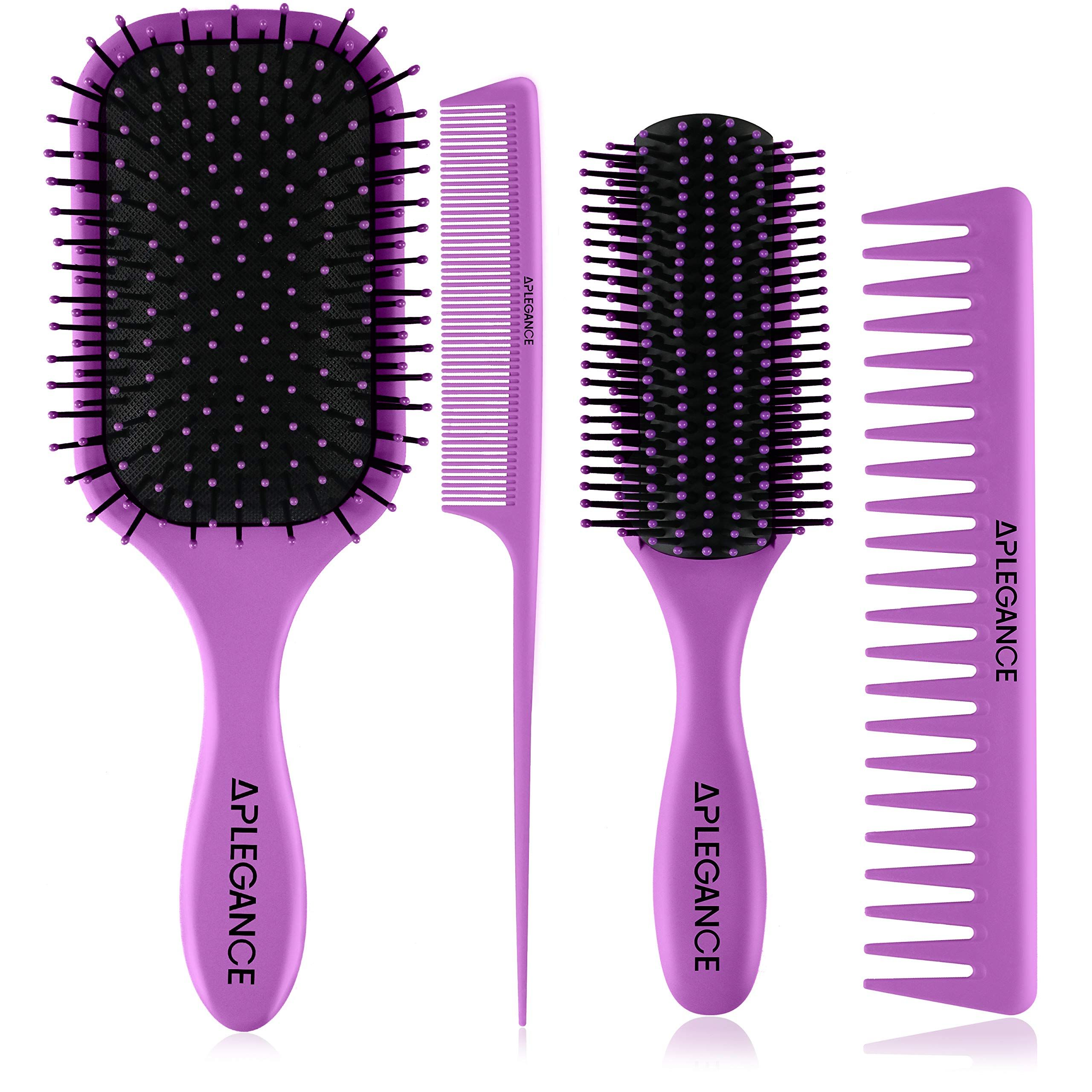 Hair Brush Set Women Men In 2020 Hair Brush Set Styling Brush Wet Hair