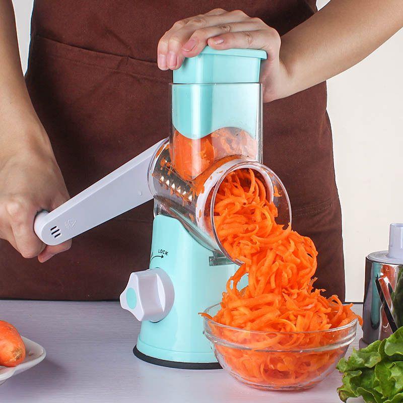 Multi-functional Manual Slicers Vegetable Spiral Chopper Mandoline Cheese Grater