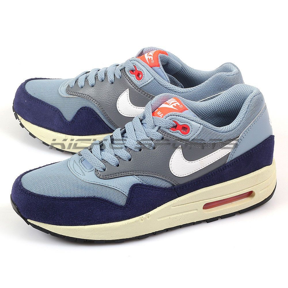 huge selection of 703f2 c523d Nike Wmns Air Max 1 Essential Blue Grey Bright Crimson-Loyal Blue 599820-400