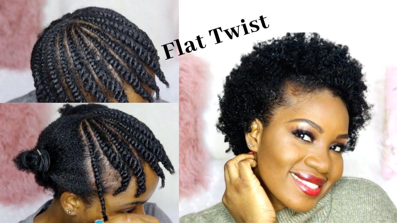 How To Flat Twist Short Natural Hair Beginner Friendly In 2020 Short Natural Hair Styles Natural Hair Styles Flat Twist