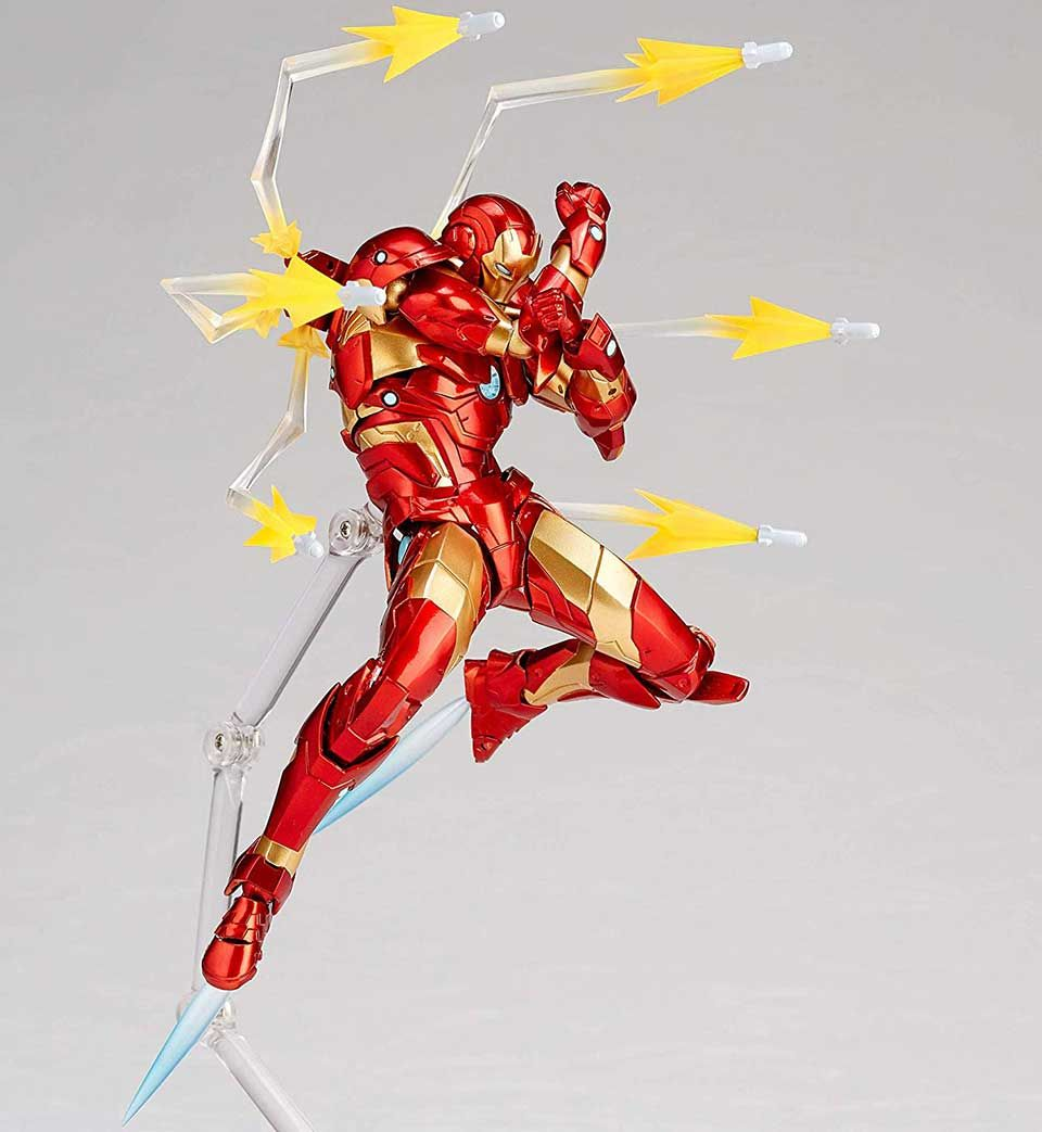 The Amazing Yamaguchi Iron Man Action Figure Is Ready For Poses Iron Man Action Figures Iron Man Cartoon Iron Man