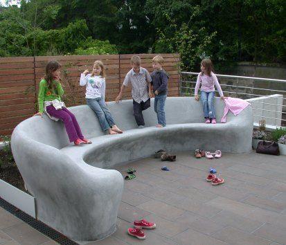 sitzbank aus beton selber machen nowaday garden Garten Pinterest