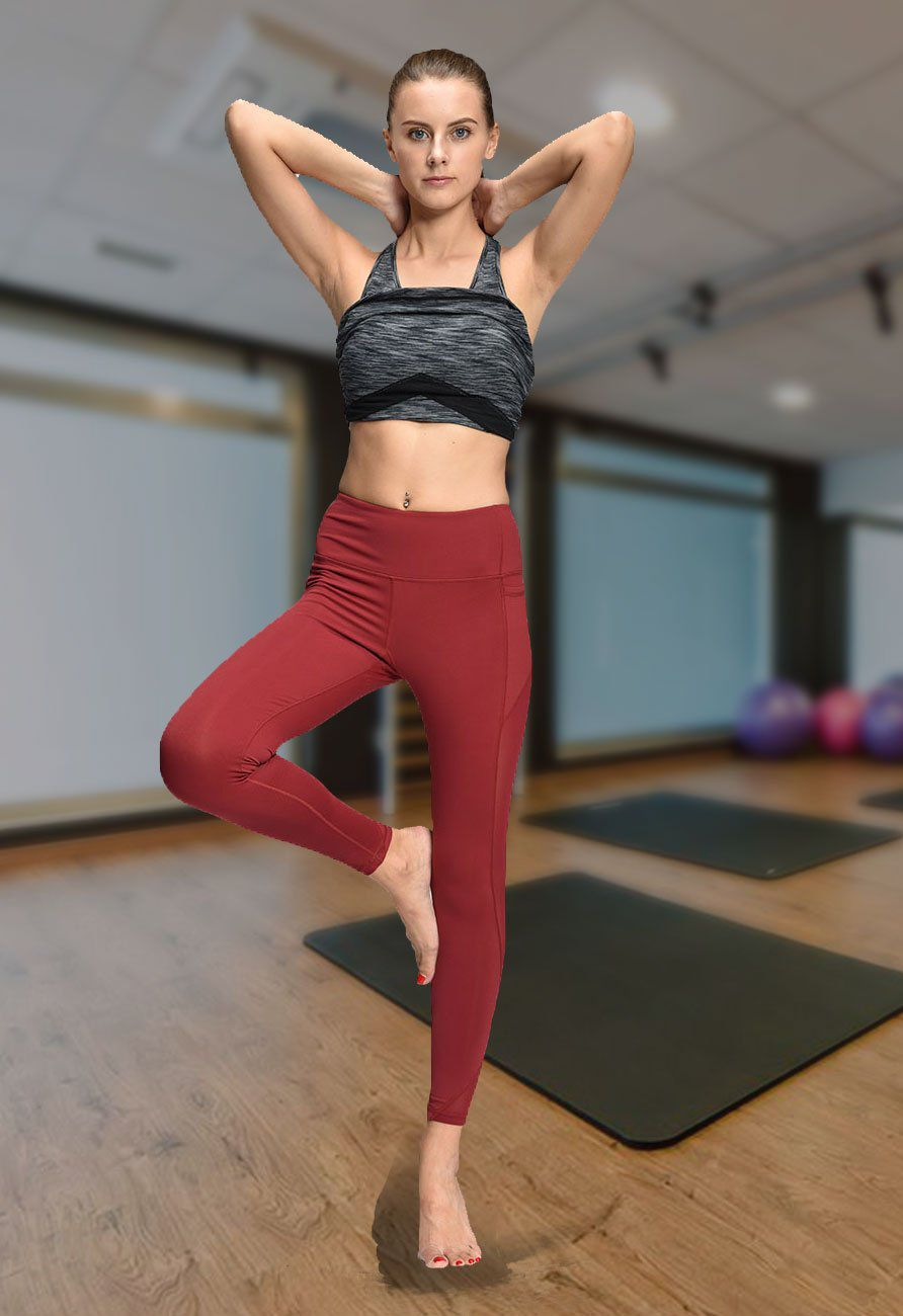 ONGASOFT Yoga Pants for Women Fitness Mesh Workout Legging