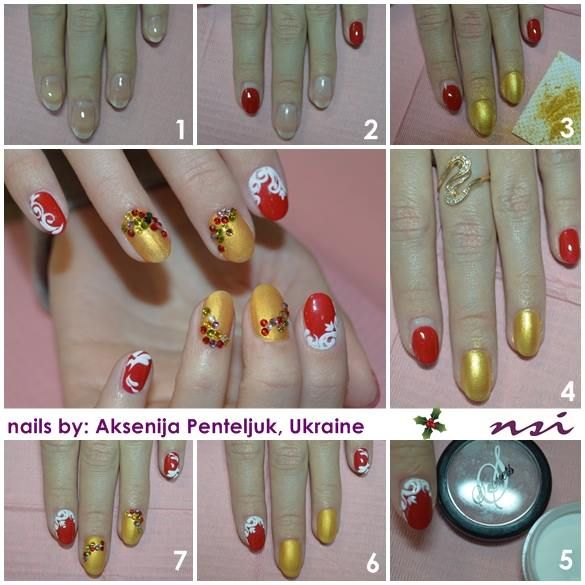 Cute Holiday Nail Art using NSI Secrets Nail Art System | Winter ...