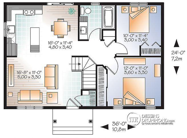 Plan De Maison Unifamiliale Miranda No 3137 Maison