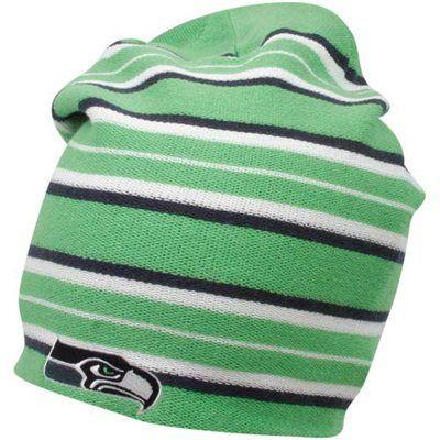 4d34f36901d Reebok Seattle Seahawks Neon Green-Navy Blue Long Reversible Knit Beanie