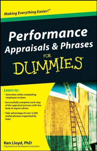AmazonCom Performance Appraisals And Phrases For Dummies Ebook