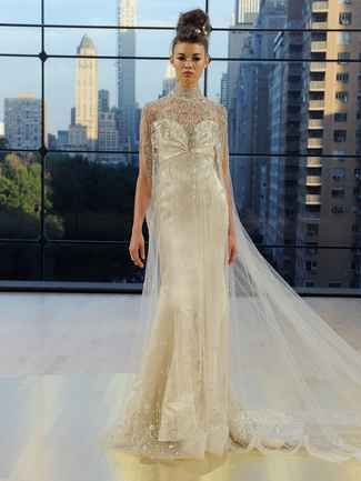 24fc651e1e79 Champagne wedding dress with crystals and embellishments