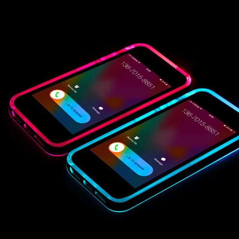 sale retailer fbaa0 6e8e2 Incoming Call LED Lights UP Bumper Case Cover for Samsung S5 S6 Note ...