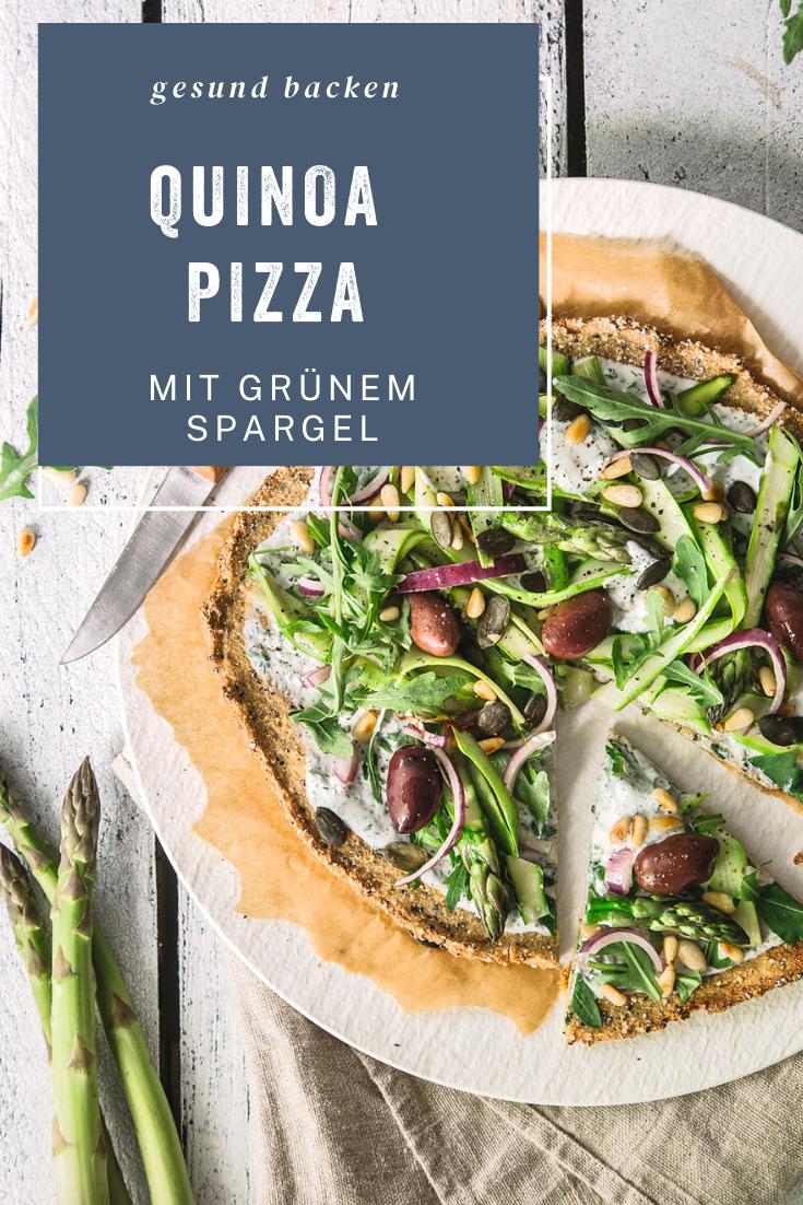 Quinoa-Pizza mit Spargel