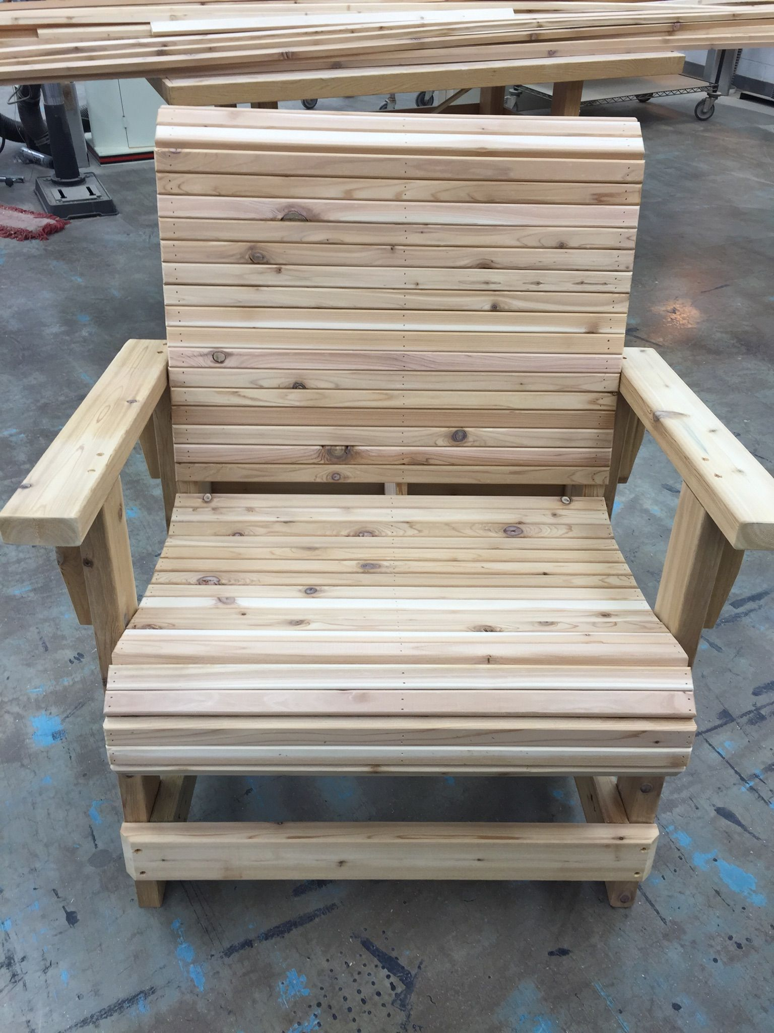 Cedar plus size chair | Patio chairs, Wood furniture ...