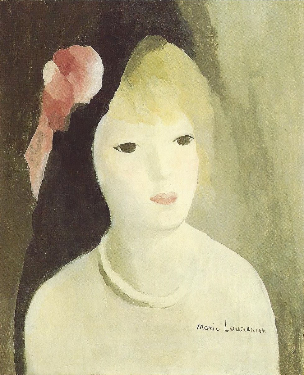 Woman With Pink Rose Marie Laurencin Art Artist Art Eras