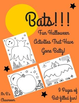 10 BATTY Halloween Activity Pages And Coloring Sheets