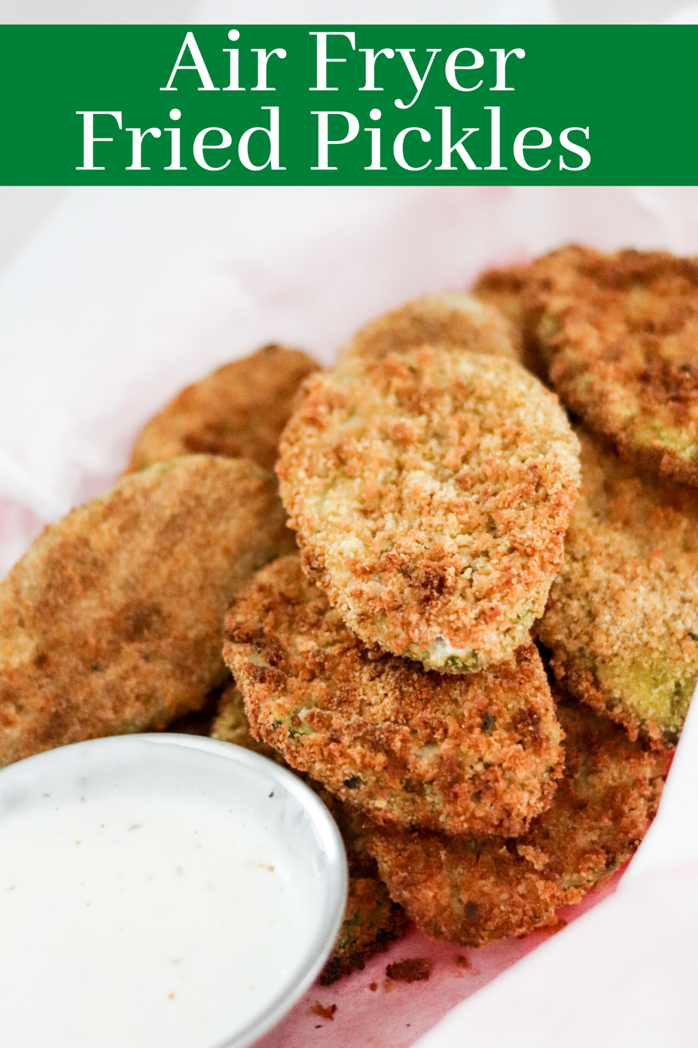 Making Fried Pickles in the Air fryer takes hardly any