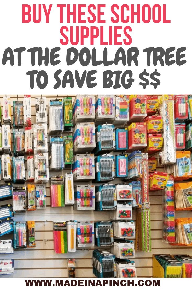 Dollar Tree School Supplies You Need To Buy To Save Big Made In A Pinch School Supplies Kids School Supplies Homeschool Supplies