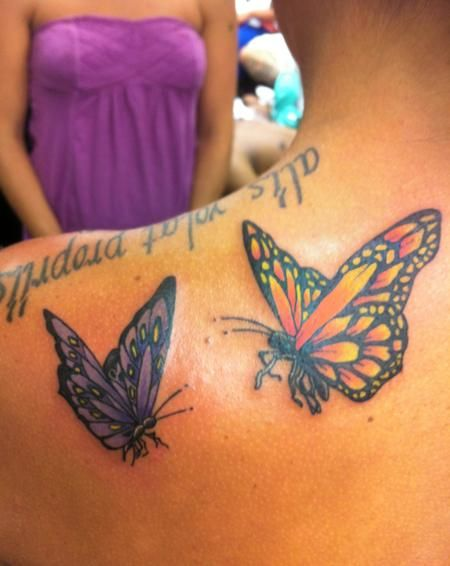 Realistic purple butterfly tattoo curtis orange and for Purple butterfly tattoo