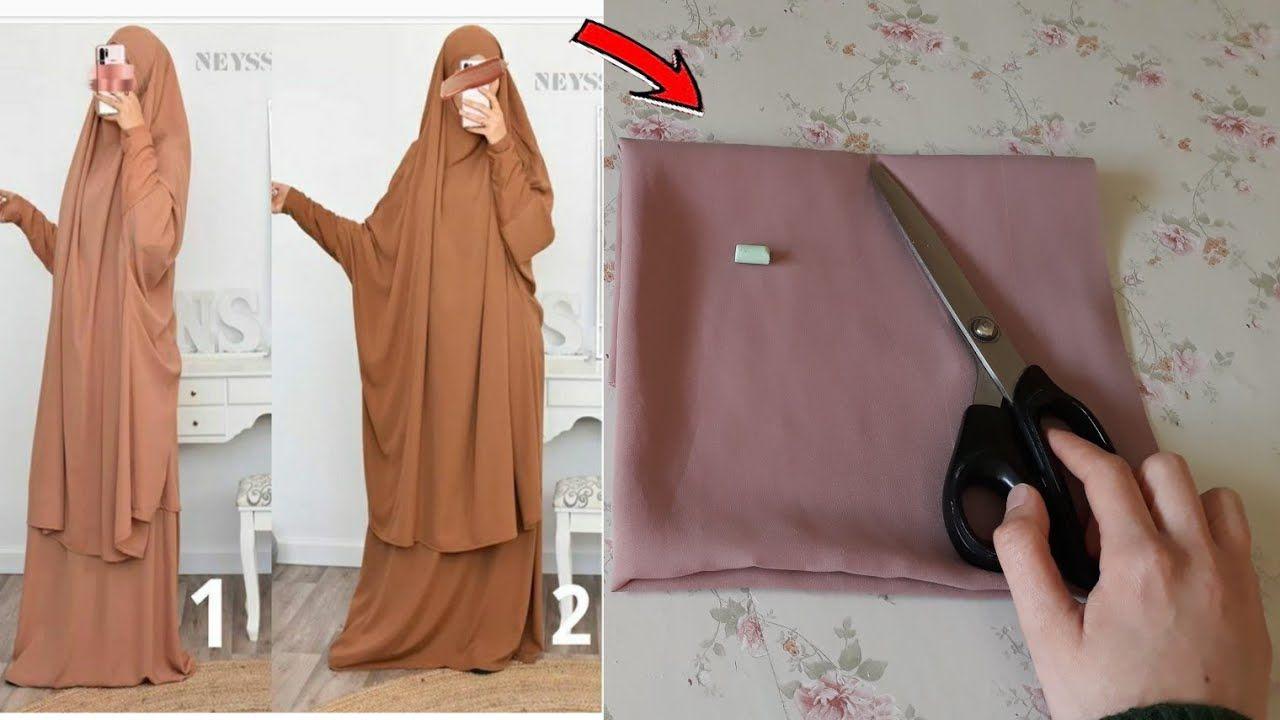 طريقة سهلة لتفصيل وخياطة الخمار لأصحاب اللباس الشرعي Youtube Abaya Pattern Fashion Sewing Pattern Muslim Fashion Hijab Outfits