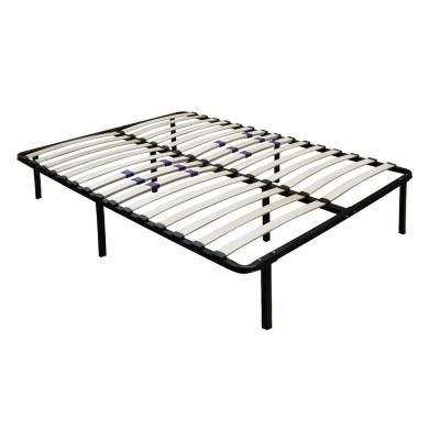 rest rite rest rite queen-size bed frame with wood slat platform