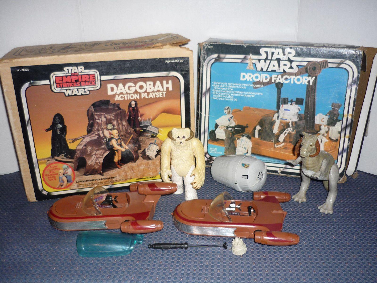 80s car toys  Lot Vintage us us Star Wars Toys Parts Pieces Boxes Droid
