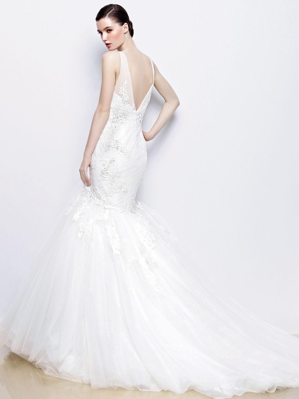 Wedding dresses fresno  Enzoani Irina back view  New Wedding Gowns  Pinterest  Enzoani