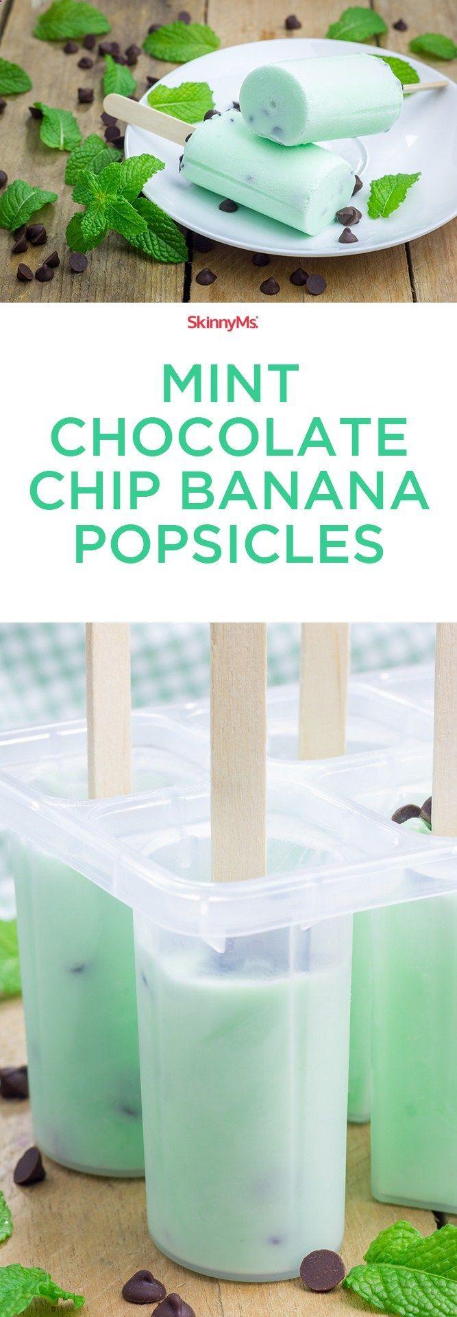 ¡Estas paletas de menta de chocolate y plátano son el paraíso! Perfectamente dulce y mi ne ...   - Sweet tooth -