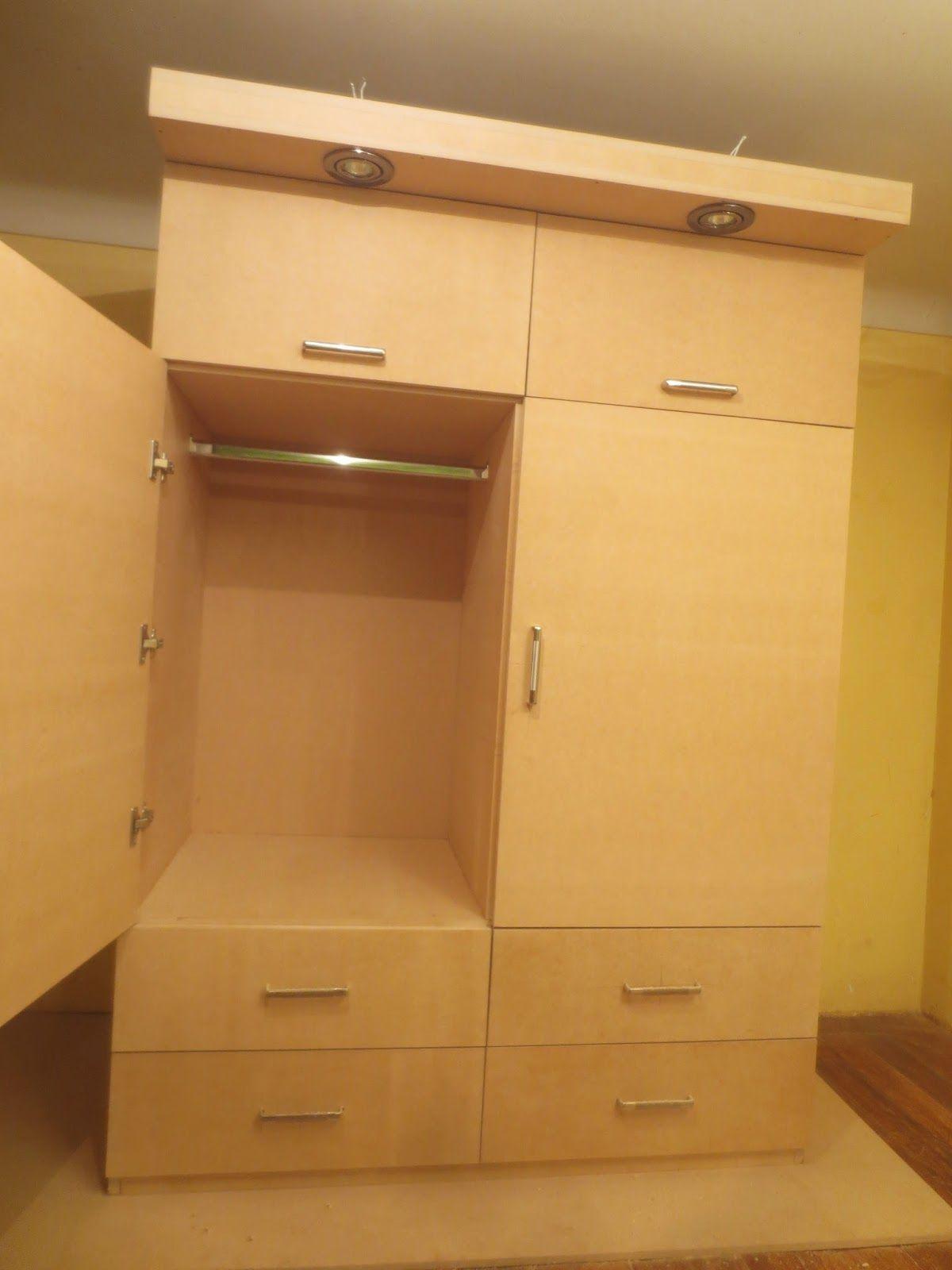Decoraciones manualidades en madera como hacer un ropero for Como fabricar muebles de melamina pdf