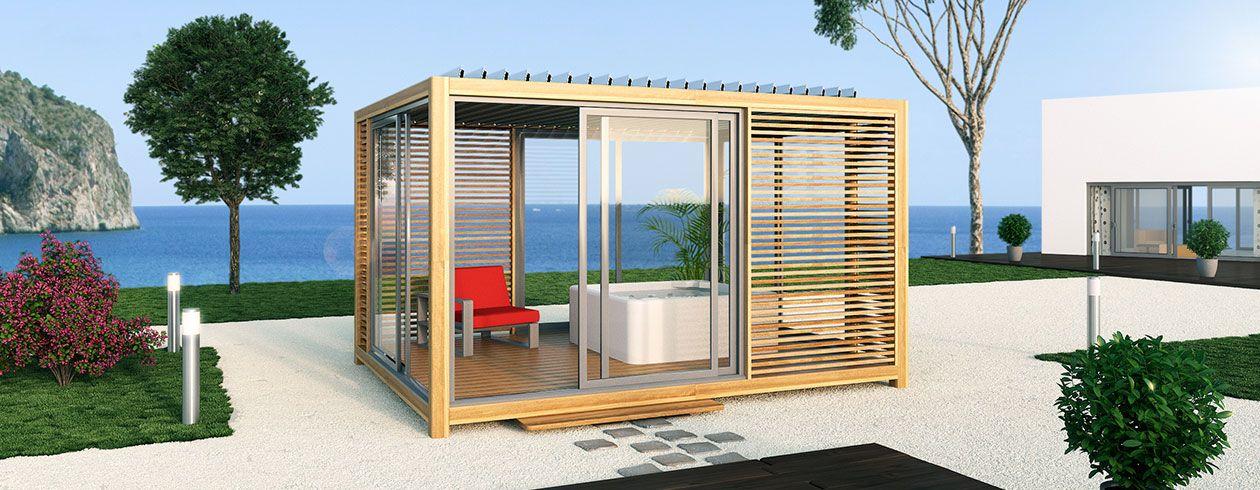 OUTSUN, gamme EXTAZE OUTDOOR, pavillons de jardins cosy et design ...