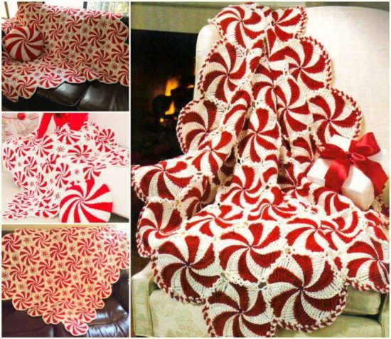 Crochet Peppermint Swirl Afghan Pattern Afghans Peppermint And