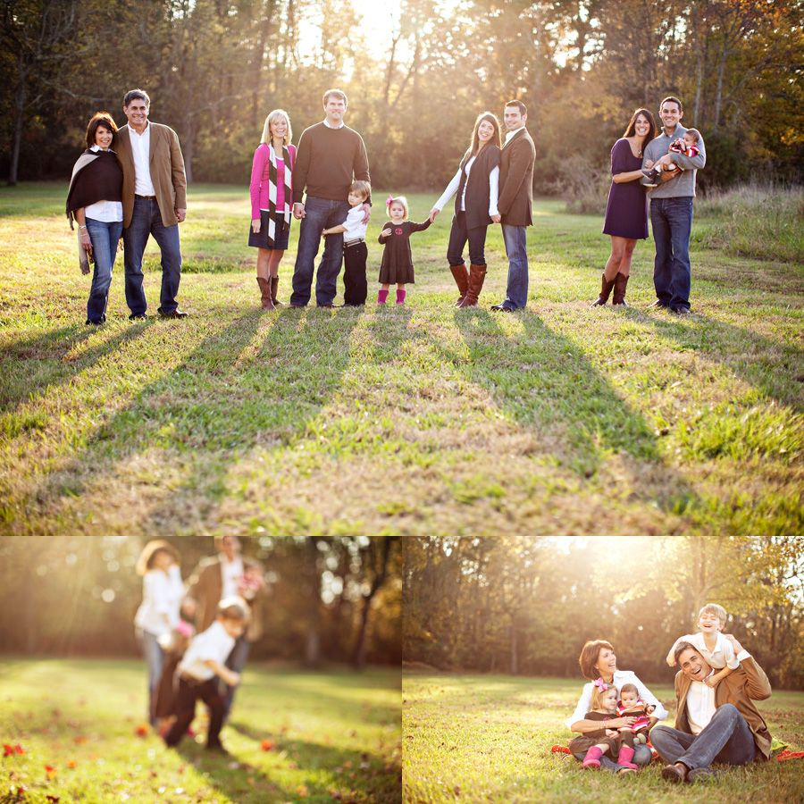 Smitten Photography | out of all the large group family portraits I've ever seen, this family did the BEST job at choosing outfits for the whole group! no one looks like they match, but they all go together so perfectly!