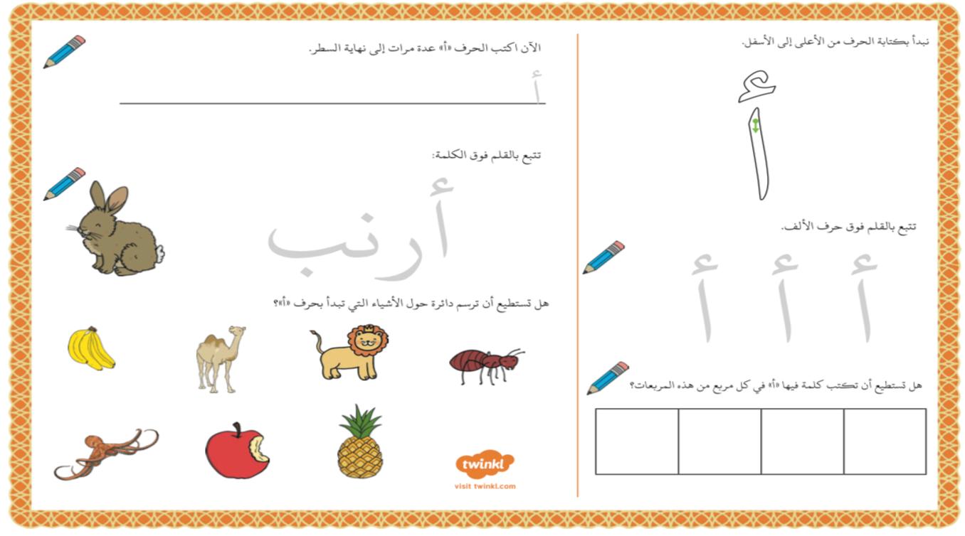 بوربوينت تدريبات الحروف الهجائية للصف الاول مادة اللغة العربية Image Comics Map