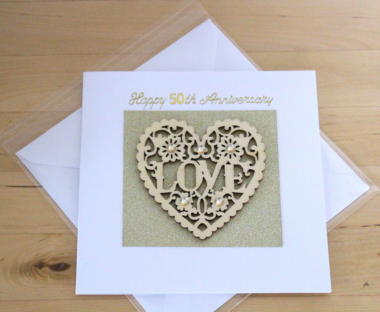 50th Golden Wedding Anniversary Card Gift Luxury Unique 50th Etsy Golden Anniversary Cards Golden Wedding Anniversary Card 50 Golden Wedding Anniversary