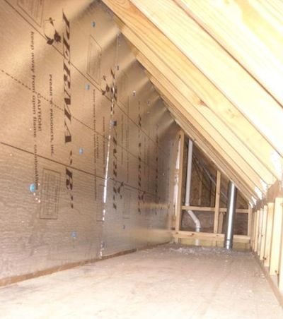 How To Sheathe An Attic Kneewall And How Not To Attic Insulation Attic Wall Insulation Attic Spaces