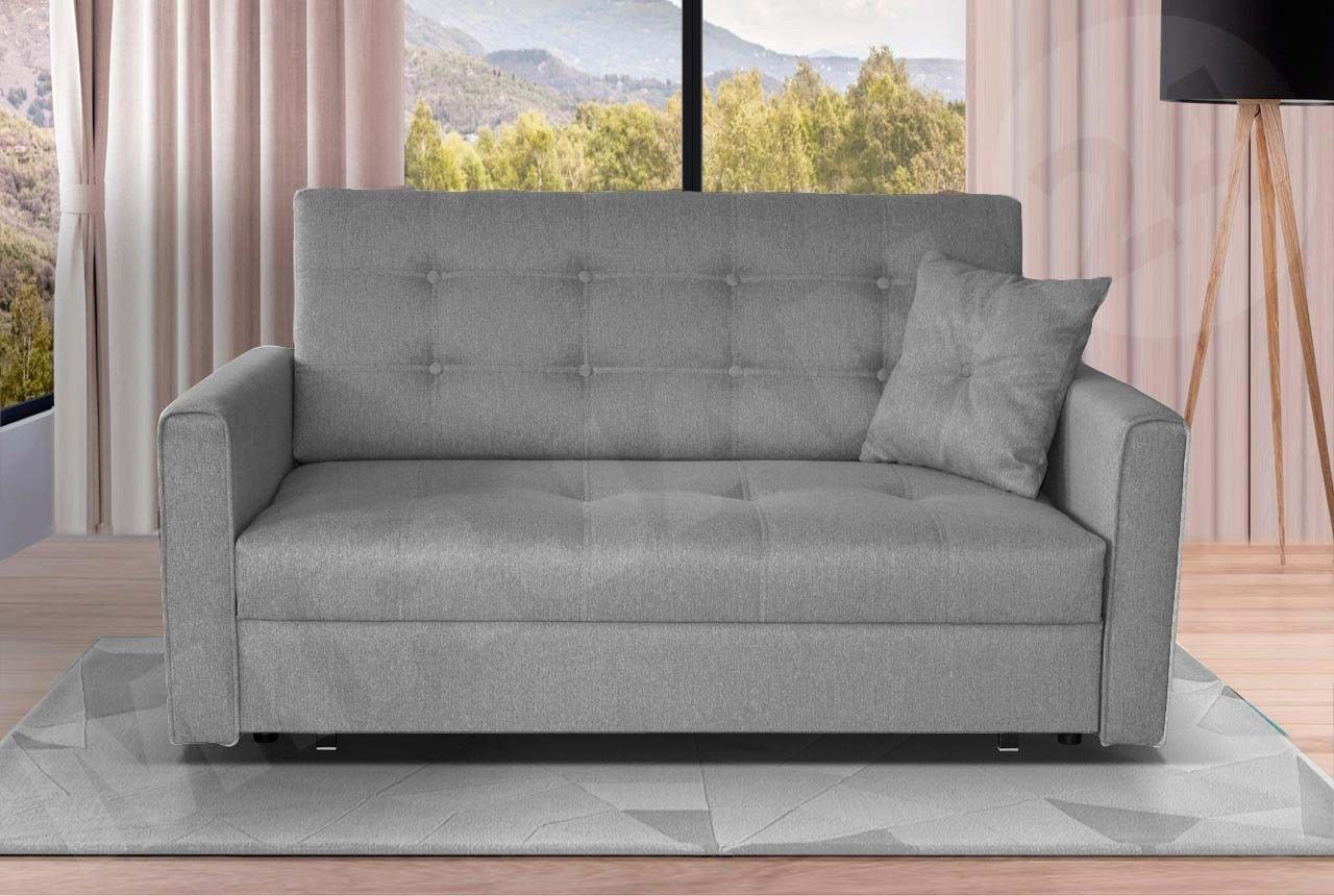 details about sofa viva fabric sofa bed with storage in grey quick rh pinterest ca ebay sofa bed chair ebay sofa bed chair