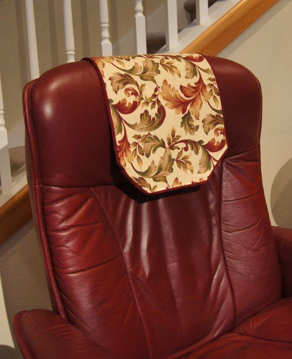 Recliner Chair Headrest Cover Burgundy Floral Chair By Chairflair Floral Chair Headrest Chair