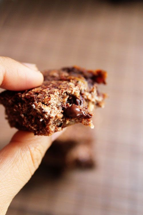Vegan Double Chocolate Oat Bars (Oil-Free + White Sugar Free with Just 4 Ingredients)