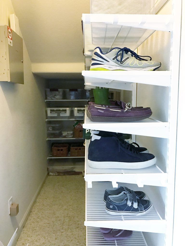 Simply Done The Ultimate Under Stairs Closet Simply Organized Storage Closet Organization Closet Under Stairs Understairs Storage