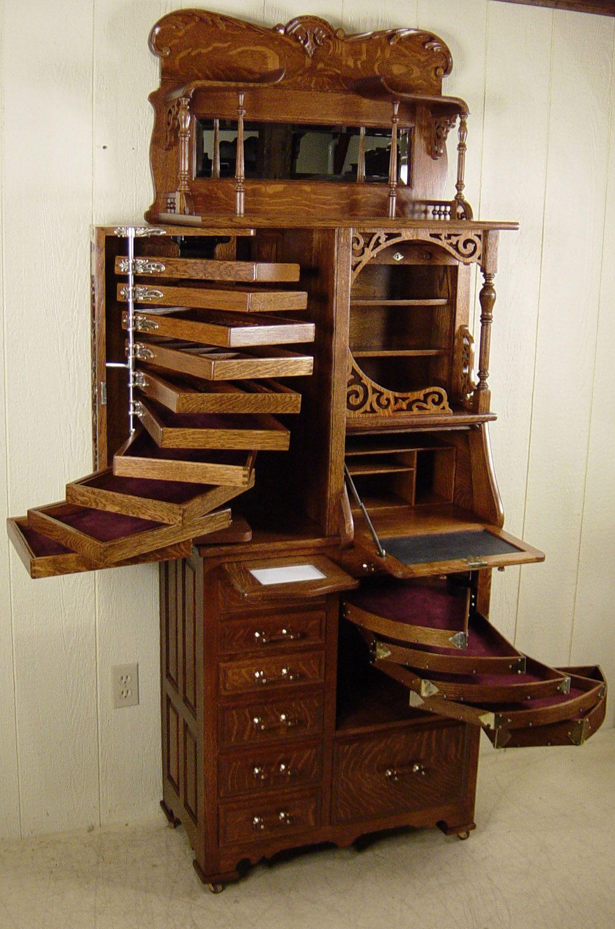 vintage meuble de mtier cabinet dentiste chne harvard dental center vers 1900