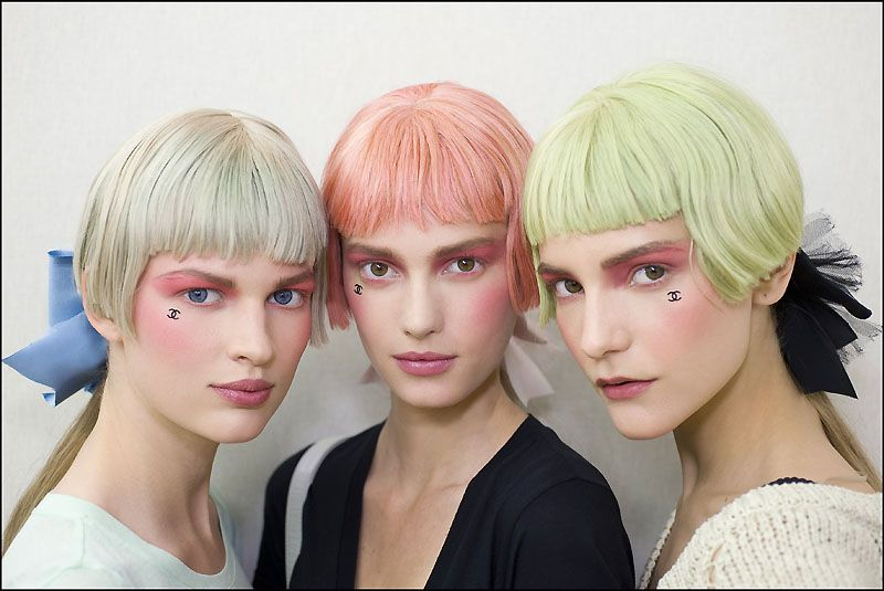 Pastel hair color at Chanel Cruise 2012/13