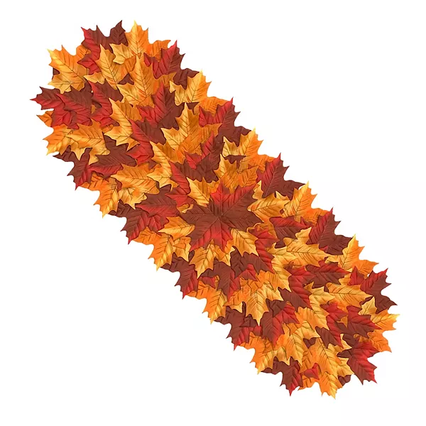 Celebrate Fall Together Pile Of Leaves Table Runner 36 Leaf Table Fall Table Runners Table Runners