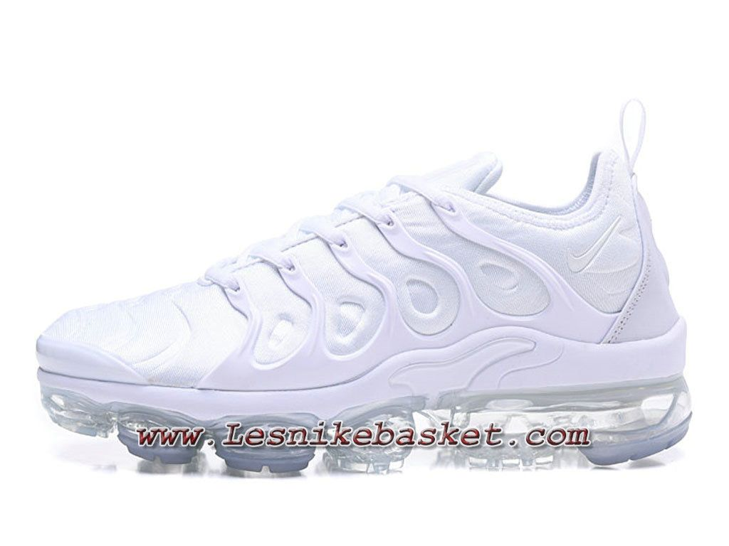 Running Nike Air Vapormax Plus Triple White Chaussures ...