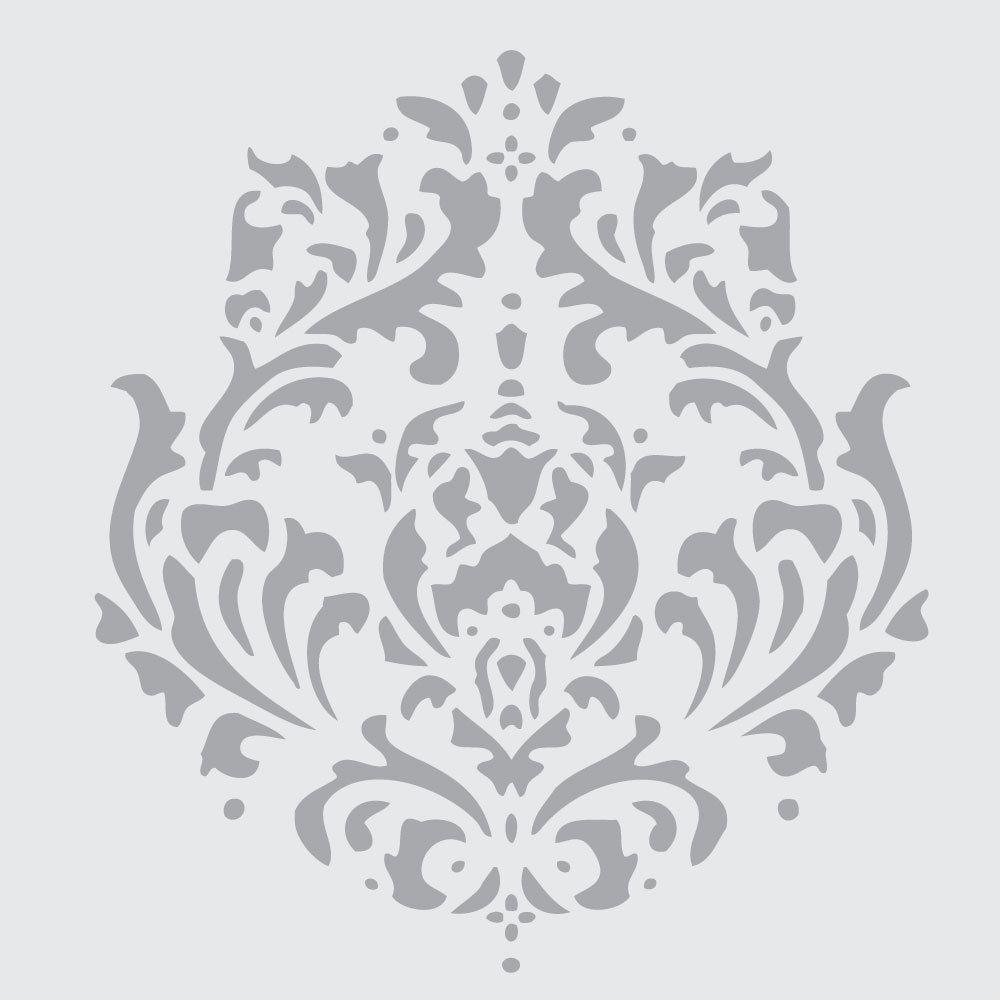 Motif on 6x6 laser cut stencil by pearldesignstudio on etsy wall damask motif on 10 mil laser cut stencil by pearldesignstudio on etsy amipublicfo Choice Image