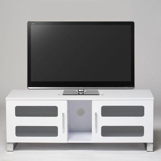 White Gloss Modern TV Stand, STUK2060W