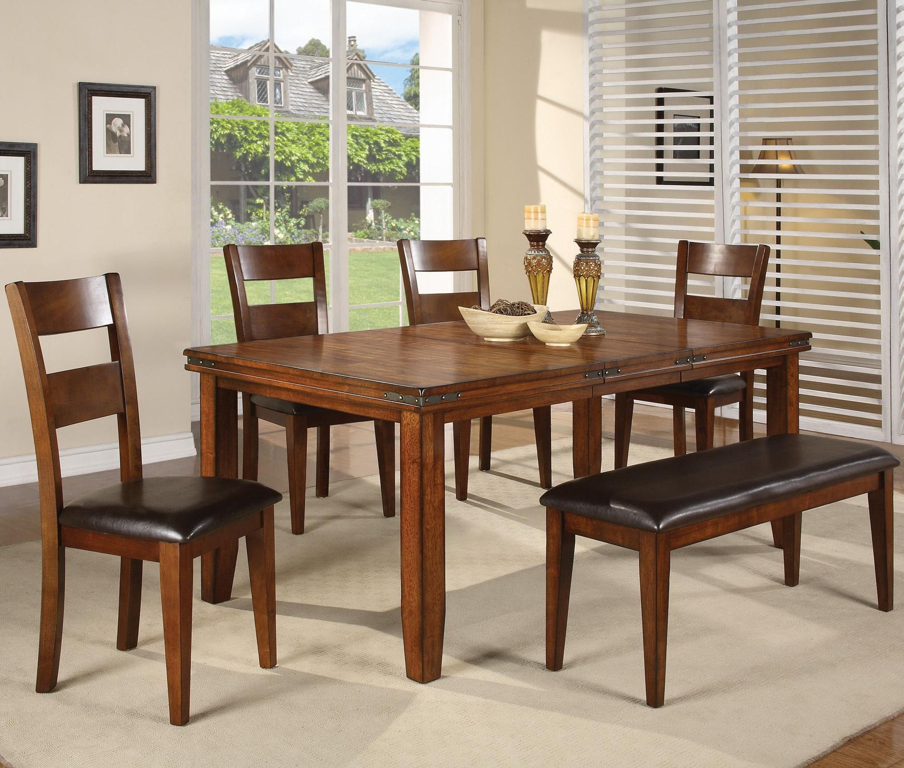 Figaro 5 Piece Dinette Table And 4 Chairs 689 00 Table 459 00 42 X 60 78 X 30 H 18 Leaf Cha Dining Table Dining Table Setting Furniture
