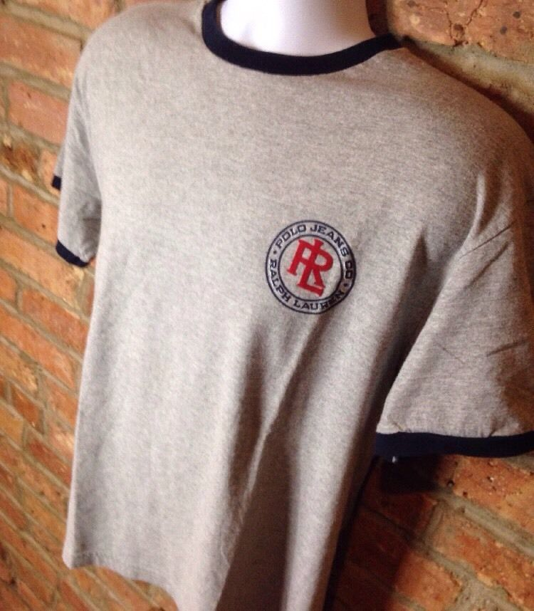VINTAGE 1990s POLO Jeans Co Ralph Lauren Company T-Shirt M NEW Deadstock 1967 RL    eBay